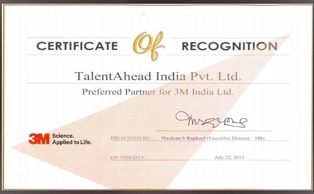 Talent Ahead India Pvt  Ltd